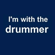 I'm with the drummer t shirt
